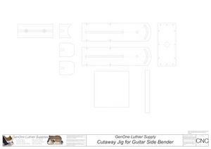 Cutaway Attachment for Heated Guitar Bender Plans 2D CNC Files Content