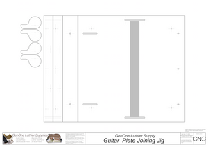 Plate Joining Jig Plans - Guitar 2D CNC Files Content
