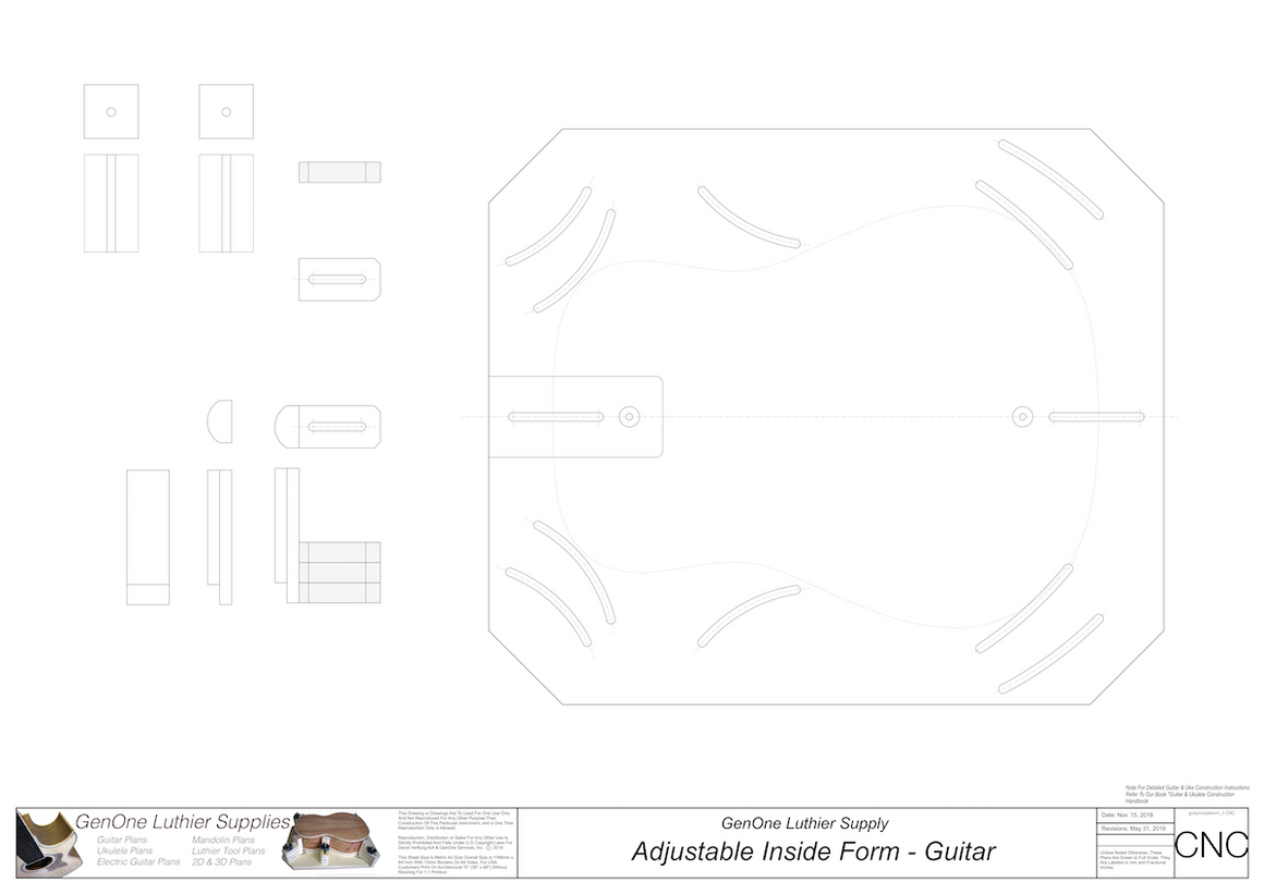 Adjustable Inside Form Plans - Guitar 2D CNC Files