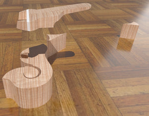 F5 Lloyd Loar Mandolin 3D CNC Files. Head Block, Fretboard Extension & Flair Blocks