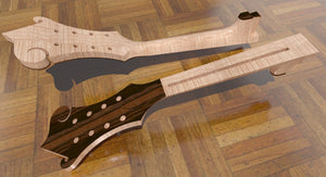 F5 Lloyd Loar Mandolin 3D CNC Files. Neck & Headpiece