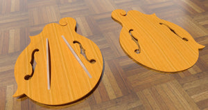 F5 Lloyd Loar Mandolin 3D CNC Files. Top Details, Front & Back & Top Braces