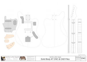 Solid Body Electric Guitar #7 2D CNC Files