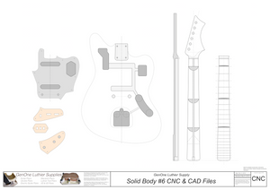 Solid Body Electric Guitar Plan #6 2D CNC File Content