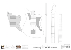 Solid Body Electric Guitar Plan #8 2D CNC File Content