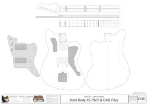 Solid Body Electric Guitar Plan #9 2D CNC File Content