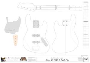 Solid Body Electric Bass Guitar Plan #5 2D CNC file content