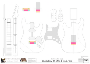 Solid Body Electric Guitar Plan #5 2D CNC File Content