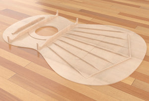 Classical Guitar Plans - Torres Bracing 650mm