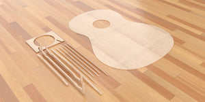 Grand Classical 3d CNC Files, Classical Guitar #4 Bouchet Bracing in Place