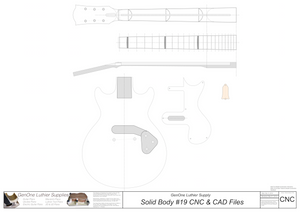 Solid Body Electric Guitar #19 2D CNC Files