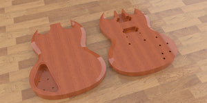 SG Standard 3D CNC Files, Body Topside and Backside