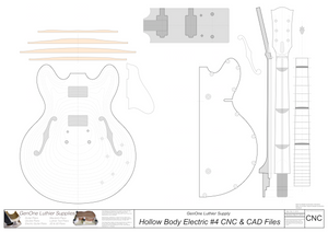 Hollow Body Electric Guitar Plan #4