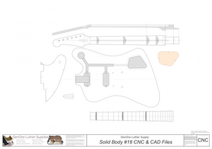 Solid Body Electric Guitar Plan #18 2D CNC File Content