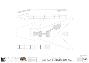 Solid Body Electric Guitar Plan #16 2D CNC File Content