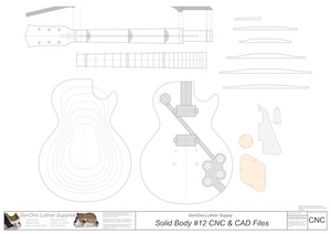 Solid Body Electric Guitar Plan #15 2D CNC File Content