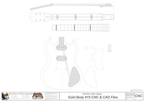 Solid Body Electric Guitar Plan #12 2D CNC File Content