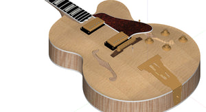 Gibson L5 CES Single Cutaway 3D CNC Files Body Assembled