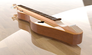 Hourglass Mountain Dulcimer, Overall View 4