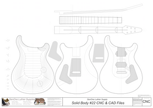 Solid Body Electric Guitar #22 2D CNC Files