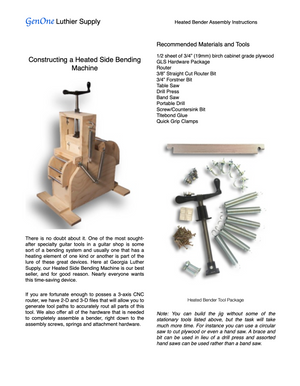GenOne Heated Side Bender Assembly Instructions Page 1