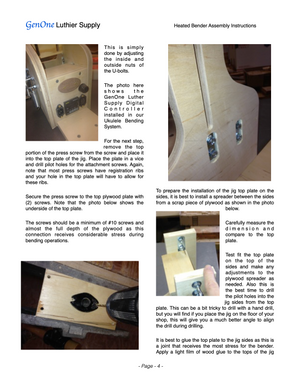 GenOne Heated Side Bender Assembly Instructions Page 2