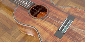 Tenor 14 Fret Ukulele Closeup