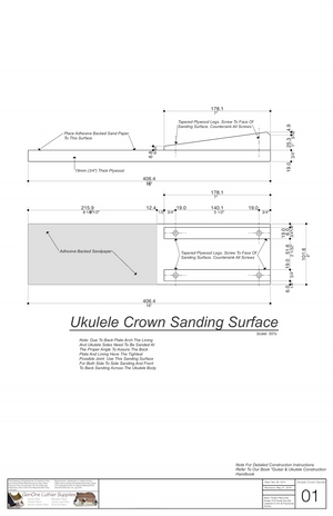 Crown Sanding Jig - Ukulele