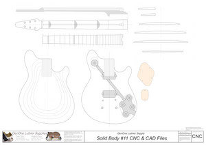 Solid Body Electric Guitar Plan #11 2D CNC File Content