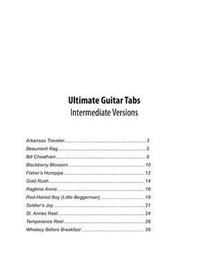Ultimate Guitar Tabs - Book 1 Intermediate, Table of Contents