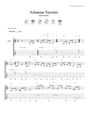 Ultimate Guitar Tabs - Book 1 Intermediate , Arkansas Traveler
