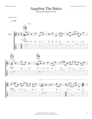 Ultimate Guitar Tabs - Book 2 Advanced, Angeline the Baker