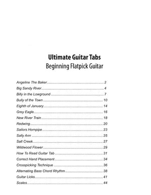 Ultimate Guitar Tabs - Book 2 Beginner, Table of Contents