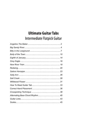 Ultimate Guitar Tabs - Book 2 Intermediate, Table of Contents
