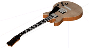 Les Paul Standard Double Cutaway 3D CNC Files Complete