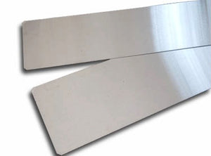Stainless steel slats for bending guitar sides