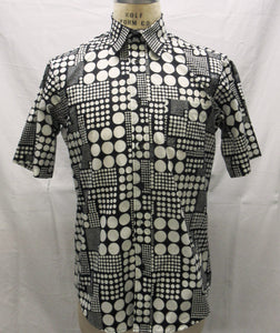 Black/White Dot Short Sleeve