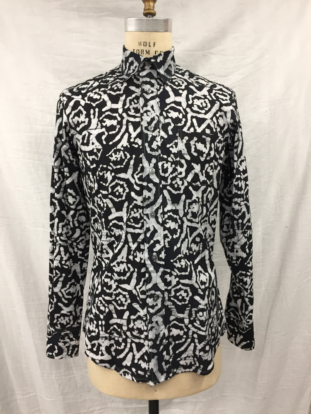 Black & Grey Abstract Long Sleeve