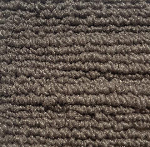 Corner of a light brown waved high low loop pile carpet for sale at cheap carpet melbourne