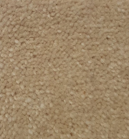 Corner of cream plush carpet roll made of wool sold at cheap carpet melbourne