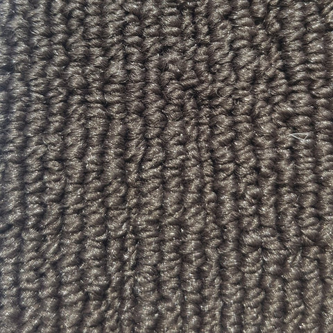 Close up fibres from a carpet roll made of nylon, brown in colour for sale at Cheap carpet melbourne