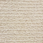 Close up of a cheap nylon cream carpet roll with a high and low loop pattern from cheap carpet melbourne