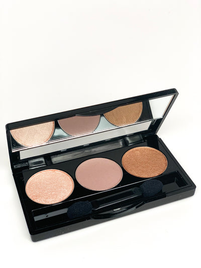 Empty 3-well Eyeshadow Palette Compact
