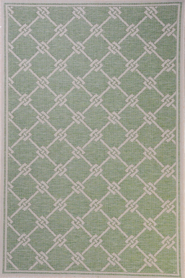 Monaco Brics Green Indoor/Outdoor Area Rug