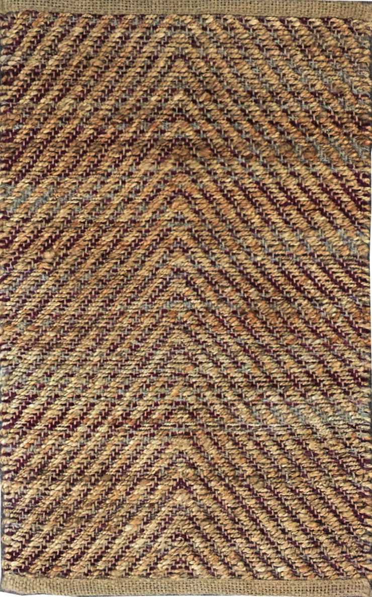 Jute Bromo Natural/Red Area Rug