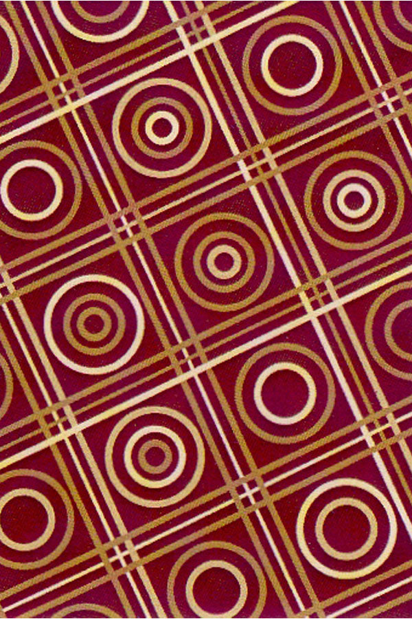 Art. Silk Checkers Wine Rug