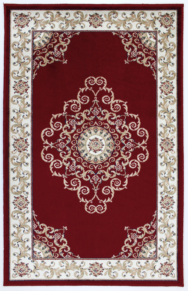Art Silk Crown Red Rug