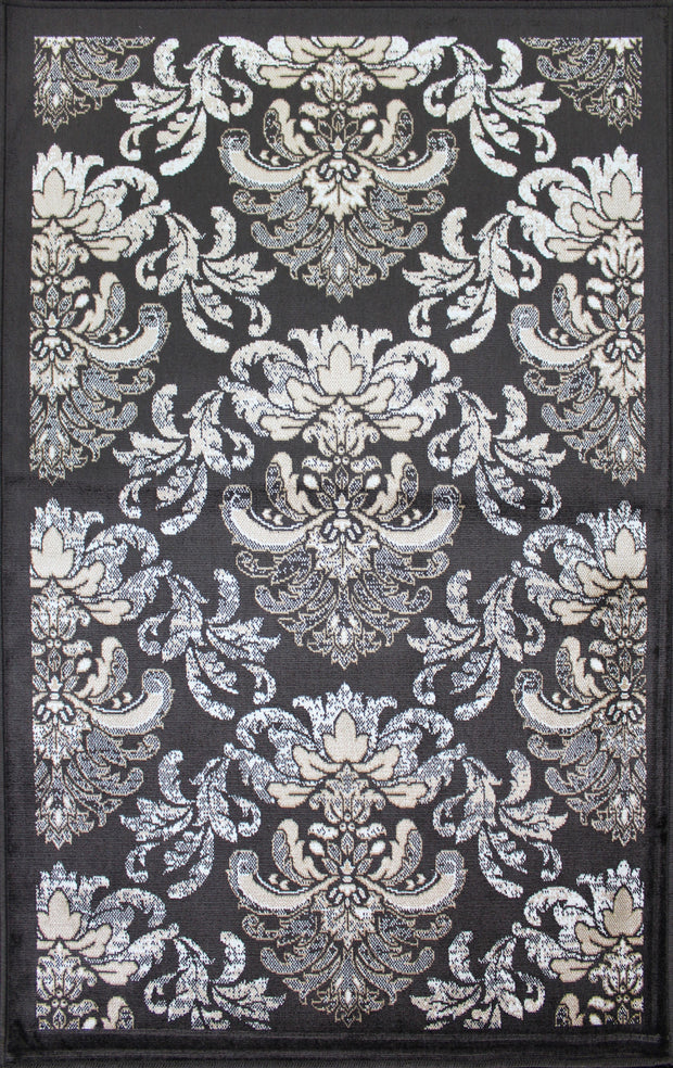Art. Silk Damask Brown/Beige Rug