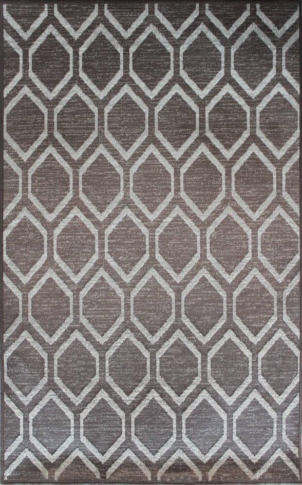 Art. Silk Diamond Taupe/Brown Rug