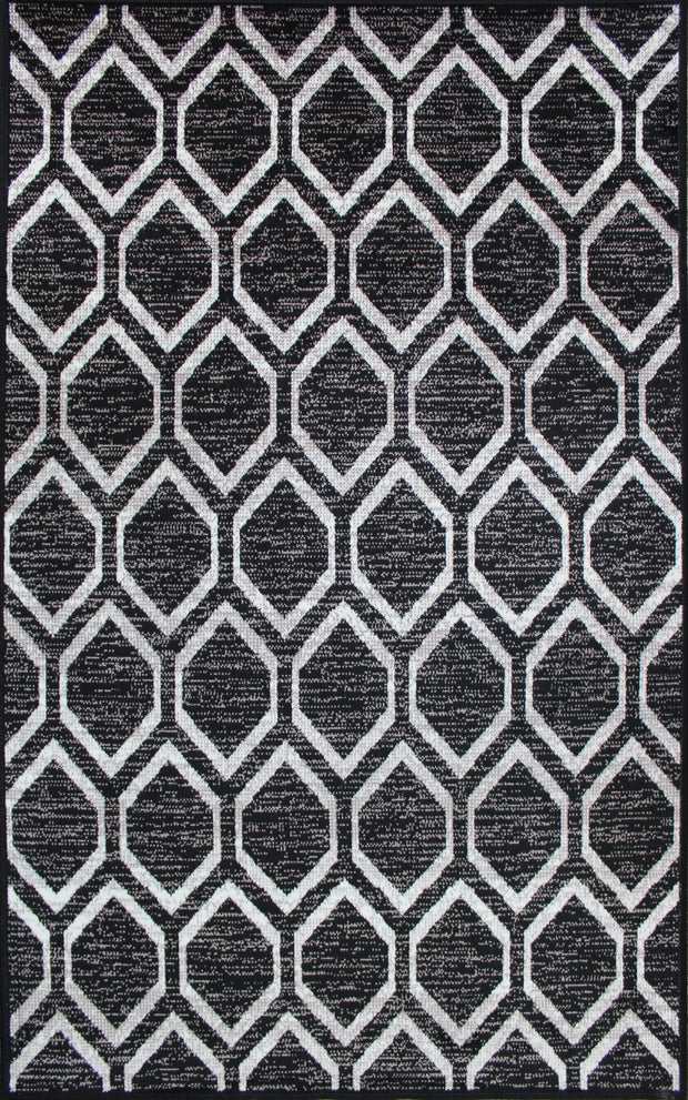Art. Silk Diamond Black Rug